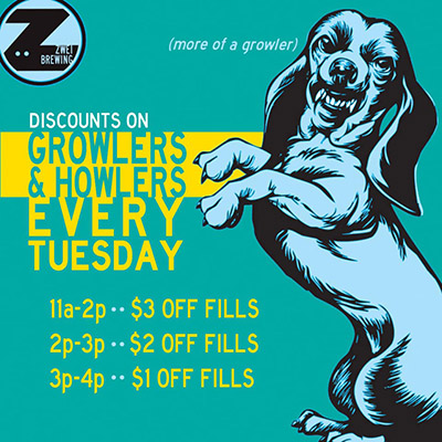 Tuesday Growler Special at Zwei Brewing - Fort Collins, Colorado